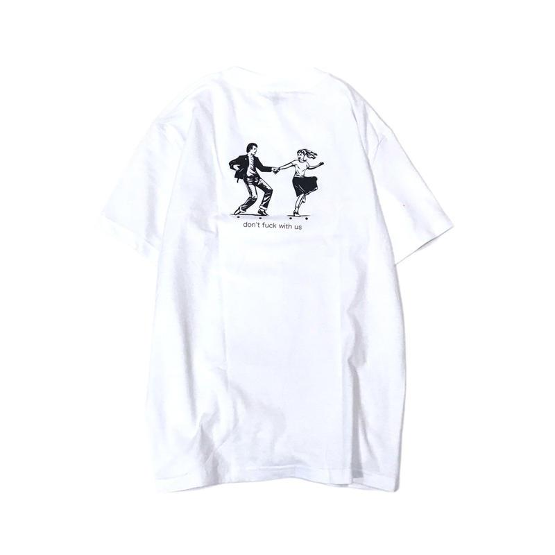 限定 sngwshop【 しながわしょうてん】don't fxxk with us  TEE Tシャツ ホワイト しながわ商店