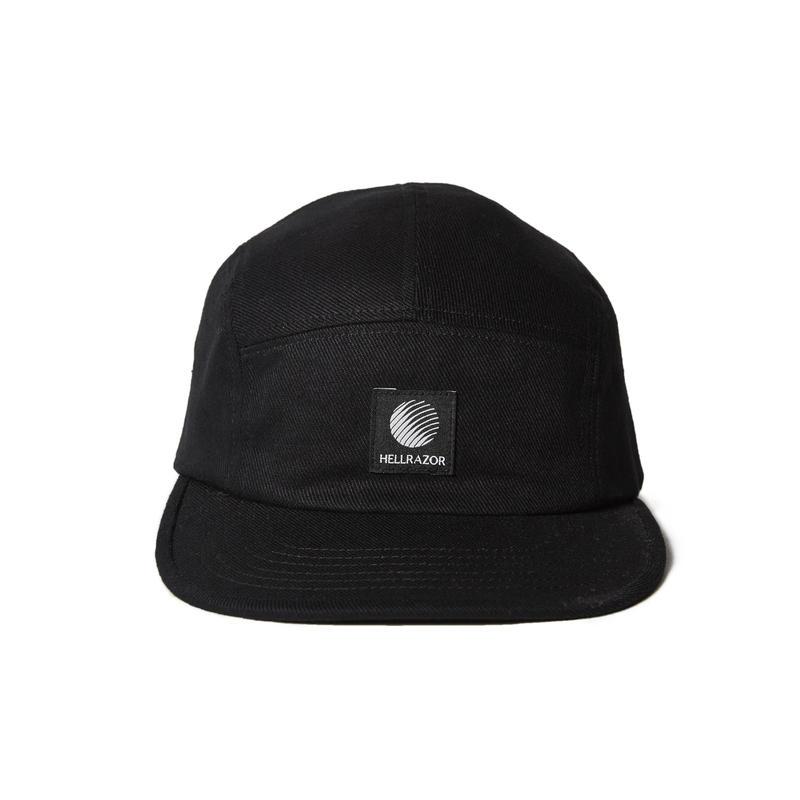 HELLRAZOR【 ヘルレイザー】LOGO PATCH TWILL CAMP CAP BLACK キャンプキャップ ブラック