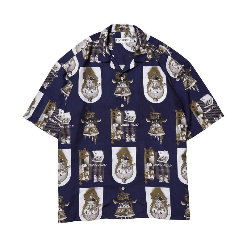 EVISEN【 えびせん】THRILL ALOHA NAVY アロハシャツ ネイビー