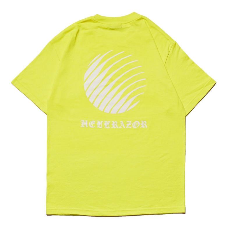 HELLRAZOR【 ヘルレイザー】OL'ENGLISH LOGO SHIRT  Tシャツ  セーフティーグリーン