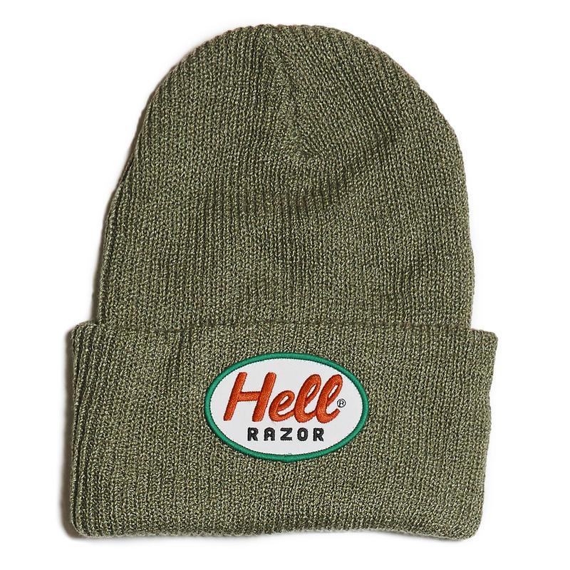 HELLRAZOR【 ヘルレイザー】MACK PATCH KNIT CAP GREY キャップ 帽子 グレー