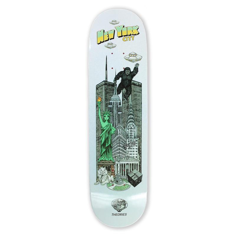 THEORIES【 セオリーズ】-NYC SKATE TOURIST- Deck デッキ 板  7.75/8インチ