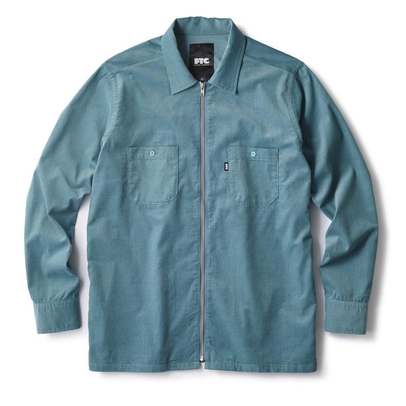 FTC【 エフティーシー】CORDUROY ZIP UP SHIRT BLUE ジップアップシャツ ブルー