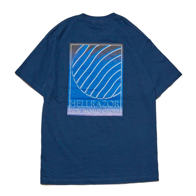HELLRAZOR【 ヘルレイザー】INDEPENDENCE POCKET SHIRT  Tシャツ ポケット Tシャツ ブルー