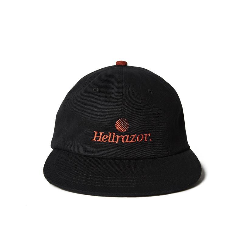 HELLRAZOR【 ヘルレイザー】TRADEMARK LOGO 6PANEL キャップ ブラック 帽子
