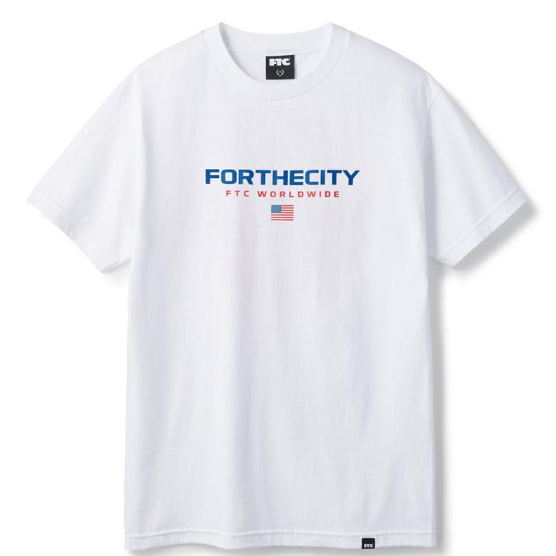 SPOT ITEM FTC【 エフティーシー】WORLDWIDE TEE WHITE  Tシャツ ホワイト