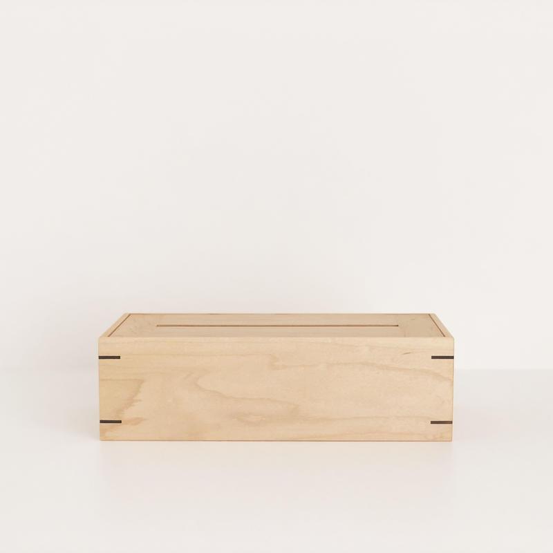 ティッシュボックス(メープル)