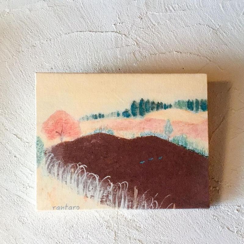 土のある風景 -ファブリックパネル   作 蘭太郎