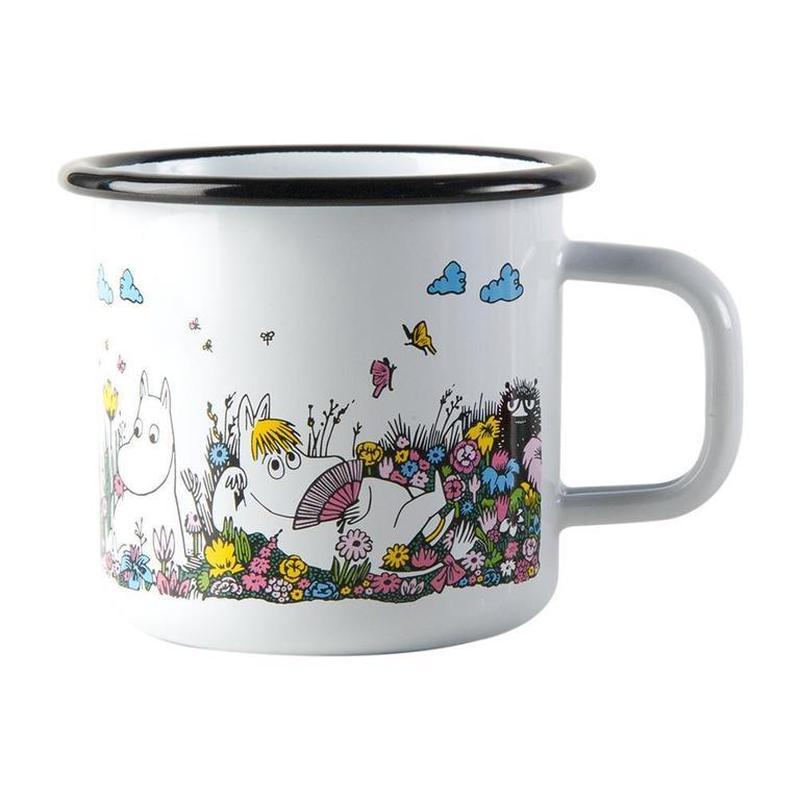 Muurla (ムールラ)  ムーミン ホーローカップ付き キャンドル 一緒の時間 ホワイト 3,7DL