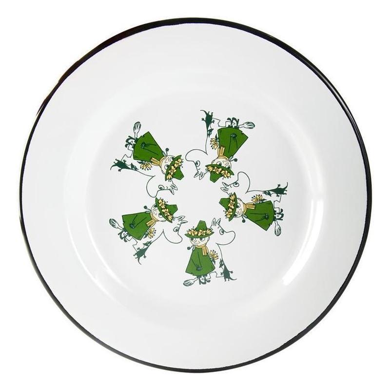 Muurla (ムールラ) ムーミン フレンズ ホーロー プレートグリーン 24CM