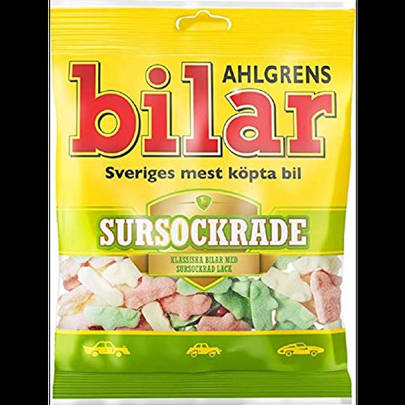 Bilar スゥエーデン 車型 ビーラル 酸っぱい サワー マシュマロ グミ 110g×1袋 スゥエーデンのお菓子です