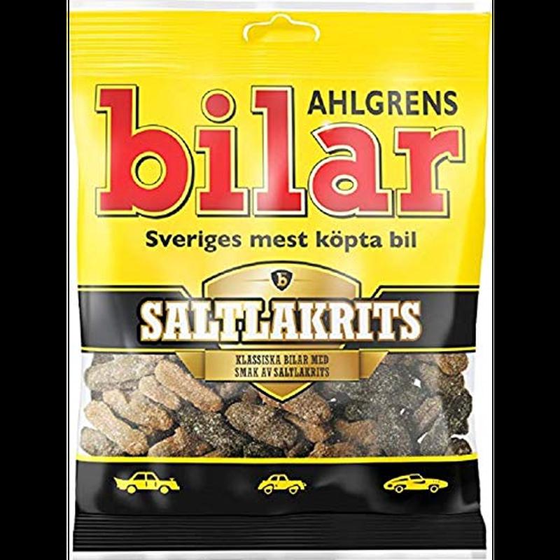 Bilar スゥエーデン 車型 ビーラル マシュマロ 塩ラクリッツ味 グミ 100g×10袋セット スゥエーデンのお菓子です