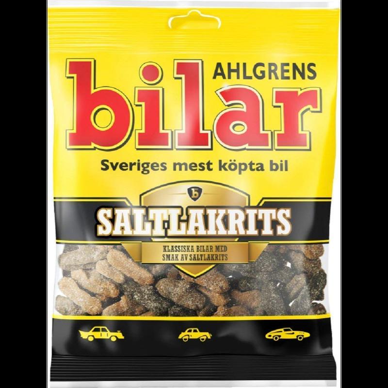 Bilar スゥエーデン 車型 ビーラル マシュマロ 塩ラクリッツ味 グミ 100g×1袋 スゥエーデンのお菓子です