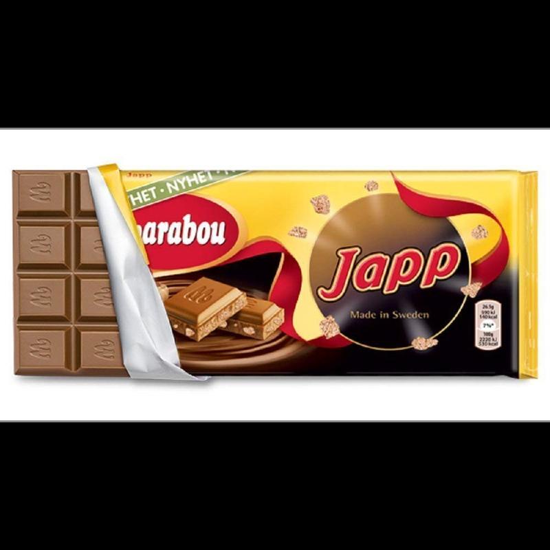 Marabou マラボウ JAPP ヤップ 板チョコレート 185g スゥエーデンのチョコレートです