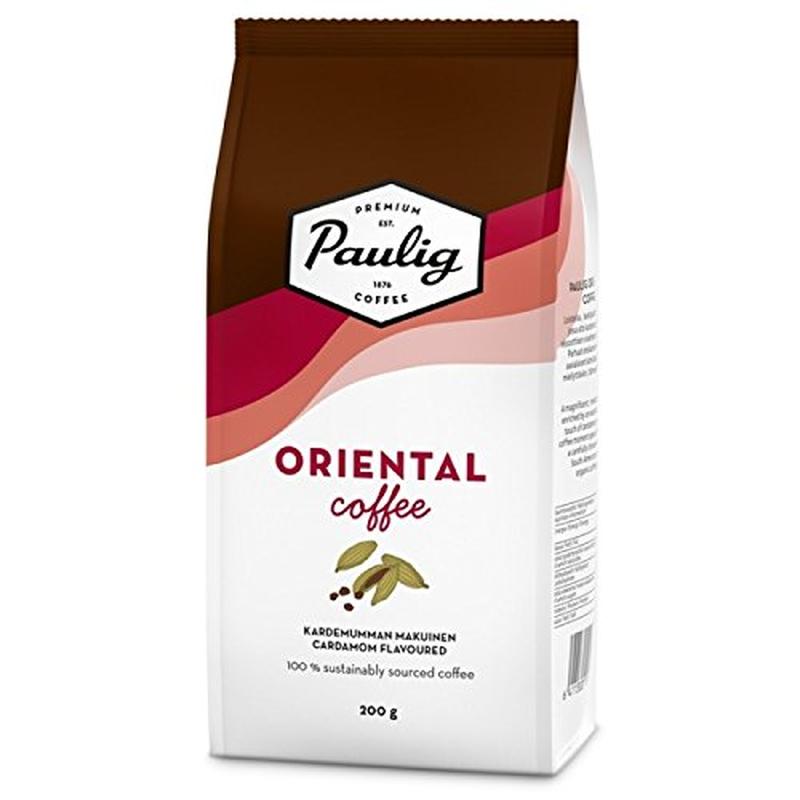 パウリグコーヒー(Paulig Coffee) オリエンタル コーヒー カルダモン フレーバー 200g入り×8袋セット (1.6kg) フィンランドのコーヒーです
