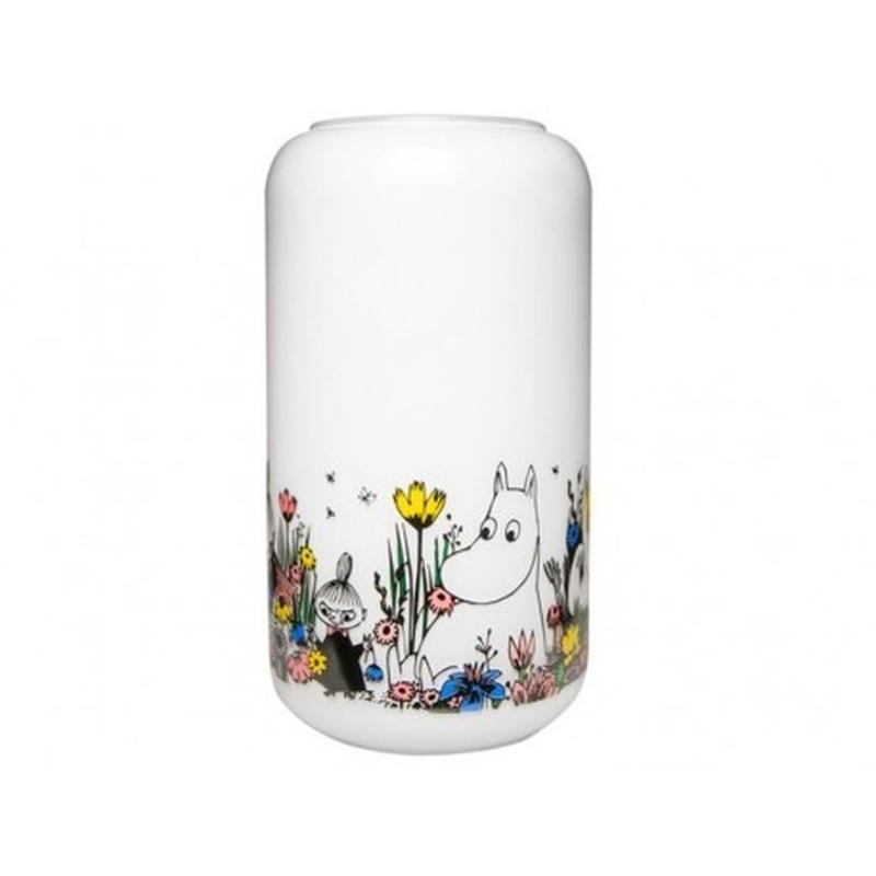 Muurla (ムールラ)  ムーミン 一緒の時間 花瓶 ホワイト 23CM