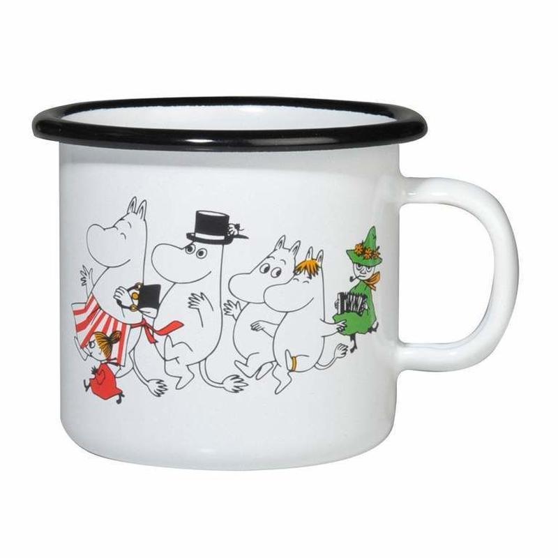 Muurla (ムールラ) ムーミン ホーロー マグカップ COLORS ムーミン谷 2,5DL