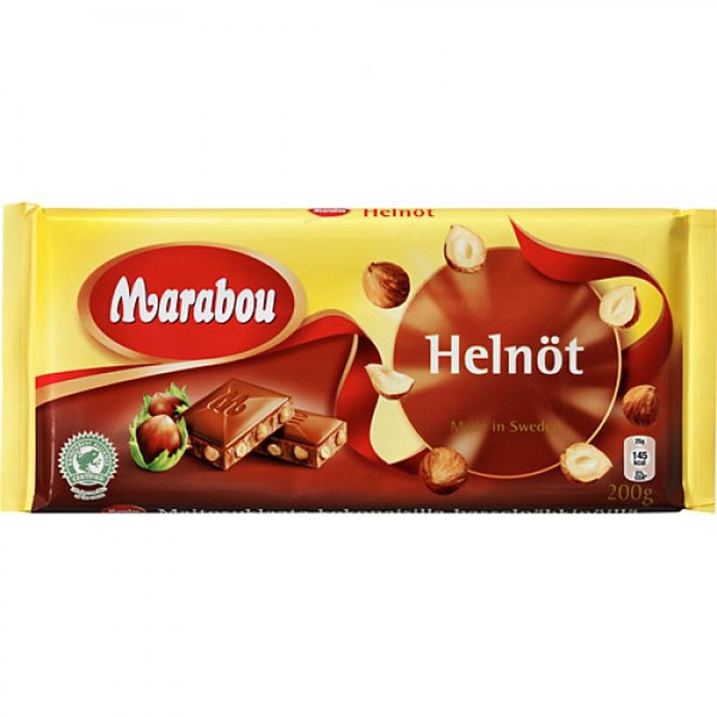 Marabou マラボウ 木の実 板チョコレート 200g ×10枚 セット スゥエーデンのチョコレートです