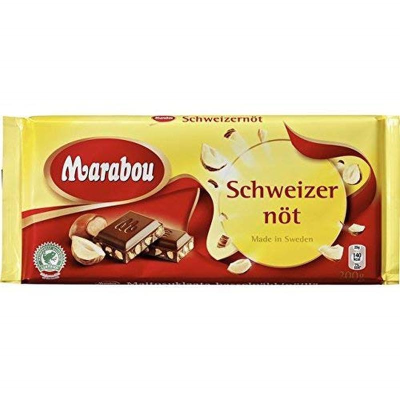 Marabou マラボウ シュバイツァーナッツ ミルクチョコレート 200g ×10枚 セット スゥエーデンのチョコレートです