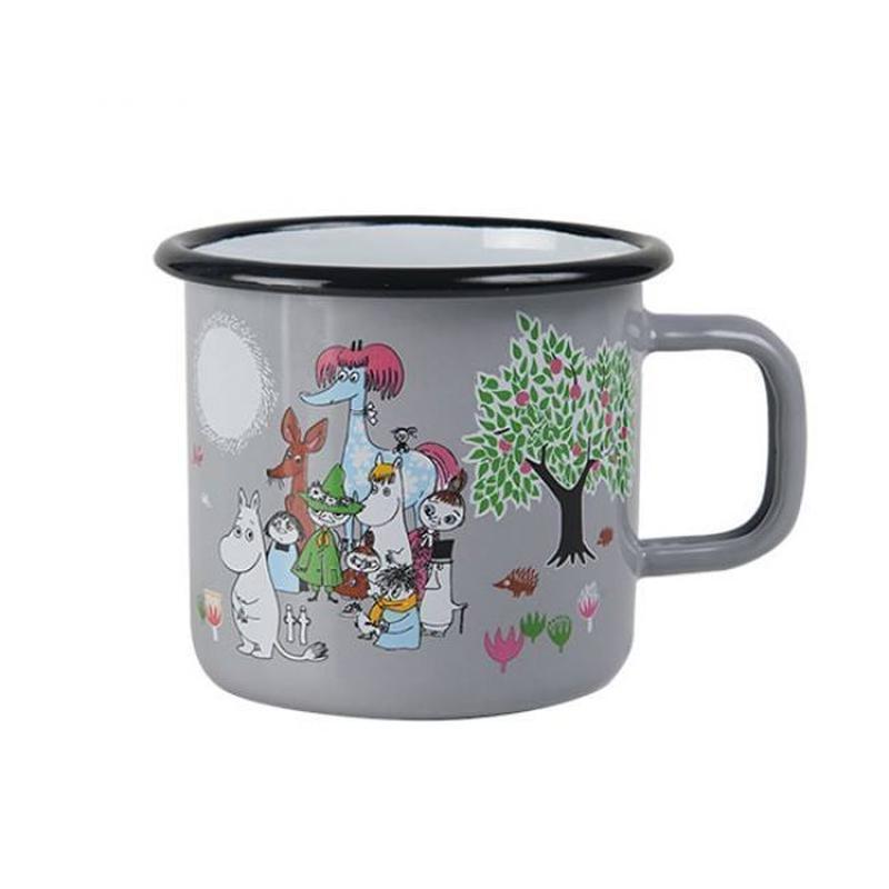 Muurla (ムールラ)  レトロ  ムーミン ホーロー マグカップ ガーデングレー 3,7DL