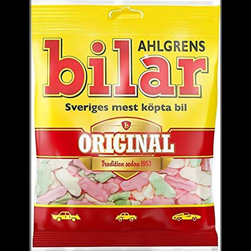 Bilar スゥエーデン 車型 ビーラル マシュマロ グミ 125g× 10袋セット スゥエーデンのお菓子です