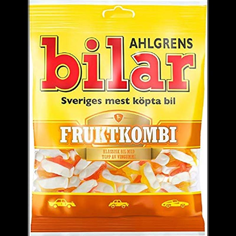 Bilar スゥエーデン 車型 ビーラル マシュマロ&フルーツ味 グミ 125g×10袋 スゥエーデンのお菓子です