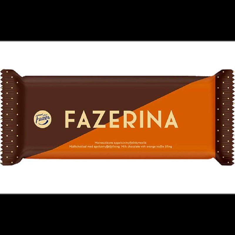 ファッツェル ファッツエリナ ミルクチョコレート(オレンジトッフェ)100g入り×2パック2 フィンランドの定番のファッツェルのチョコレート