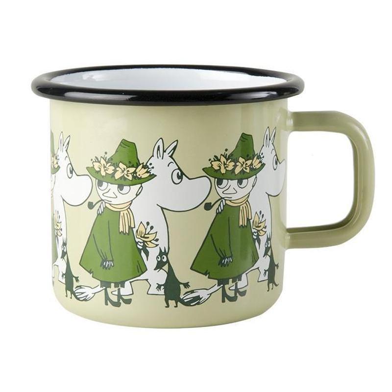 Muurla (ムールラ) ムーミン フレンズ ホーローマグカップ グリーン 3,7DL