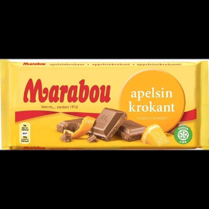 Marabou Daim マラボウ オレンジ 板チョコレート 200g スゥエーデンのチョコレートです