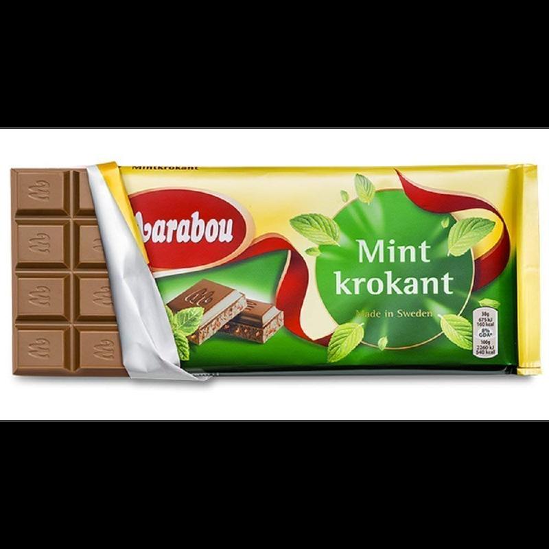 Marabou マラボウ ミント 板チョコレート 200g ×10枚 セット スゥエーデンのチョコレートです