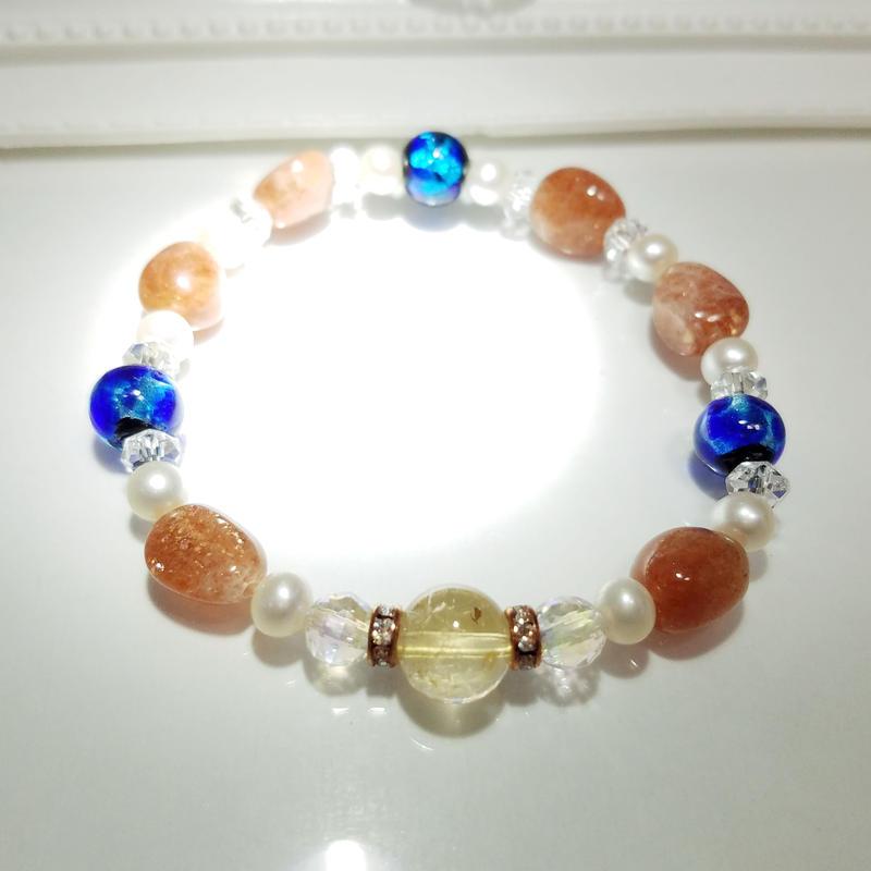 太陽のブレスレット for  ~coral sea~
