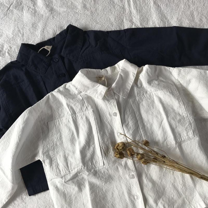 pocket  コットンシャツ