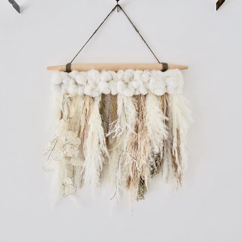 Botanical wall hanging  : M [white]