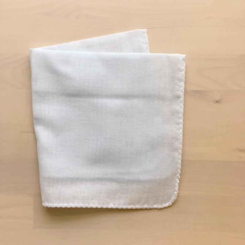 カラーガーゼハンカチ cotton100%  【 mint blue 】[NT-1121]
