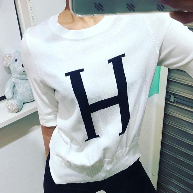 薄手ニットTシャツ