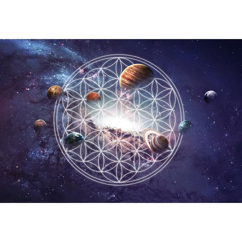 "● used ● ""flower of life & universe""  canvas print graphic picture (scp001)"