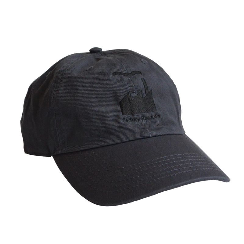 """""""Factory Records""""  / Washed Twill Low Cap / charcoal gray (luz.fac.c)"""