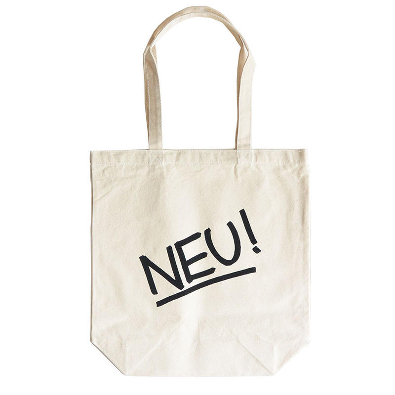 """NEU!""/ Cotton Canvas Tote Bag / Natural (luz.neu.t)"