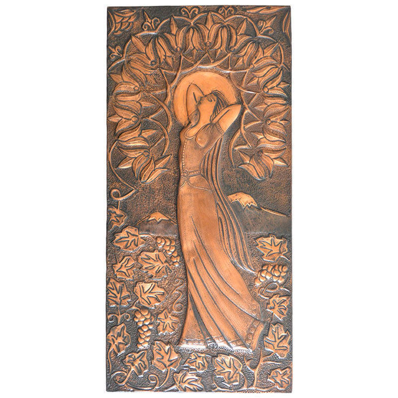 """antique copperplate engraving """"flowering lady""""(gp006)"""