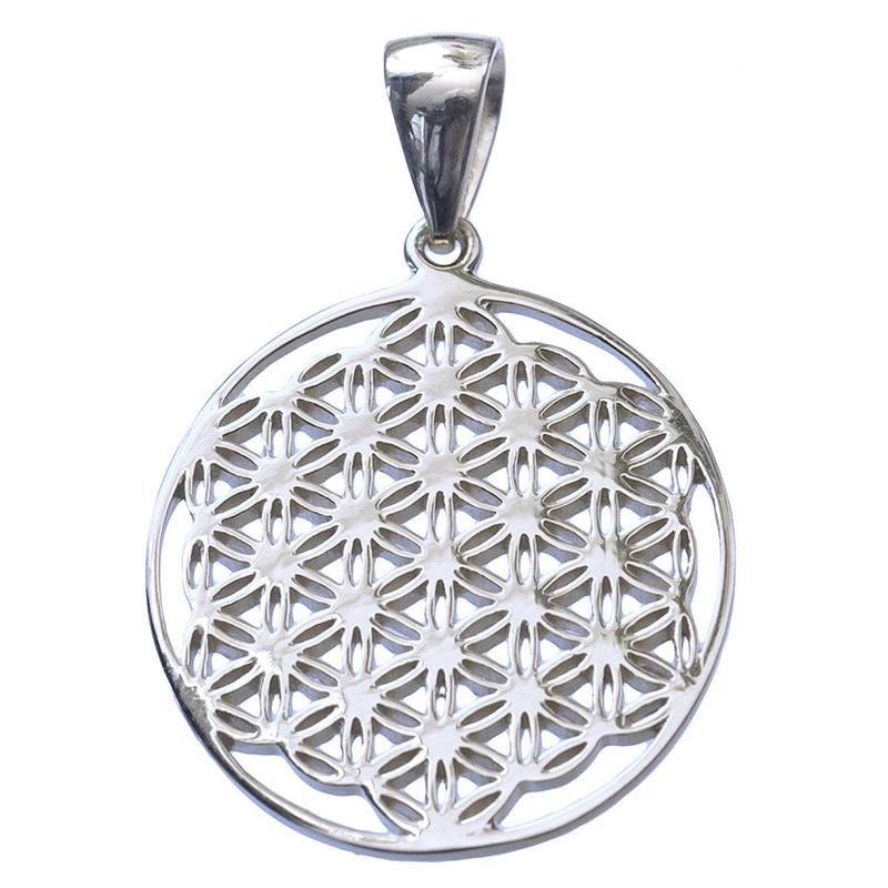 """flower of life"" silver 925 pendant top  (sat003)"