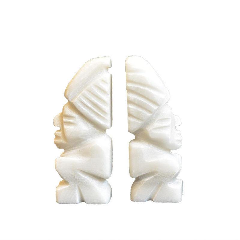 antique hawaii tiki  stone object -2 piece set- (mh008)