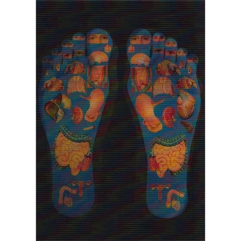 """""""L.M.kartenvertrieb""""foot pleasure point 3D animation postcard (glma005)"""