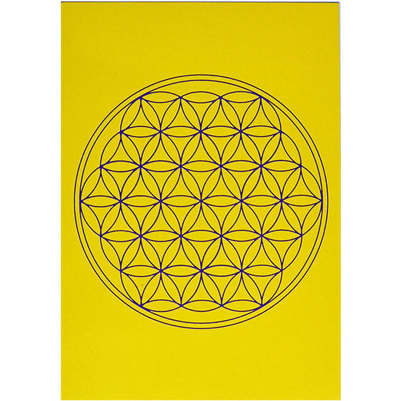 """flower of life""  postcard -yellow- (spc002-3)"