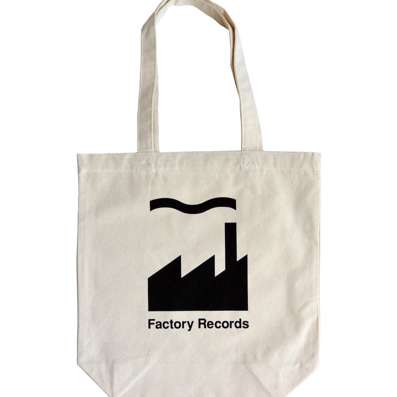 """Factory Records""/ Cotton Canvas Tote Bag / Natural (luz.fac.t)"