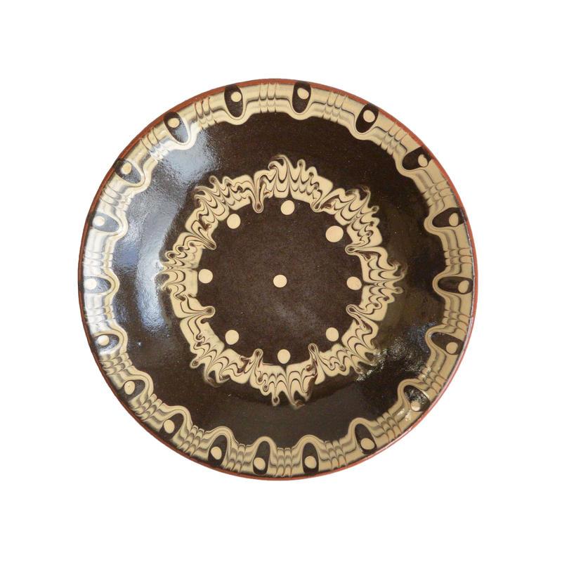 """troyan"" dish (s) -black- bulgaria hand made/ monotone (td-sb)"