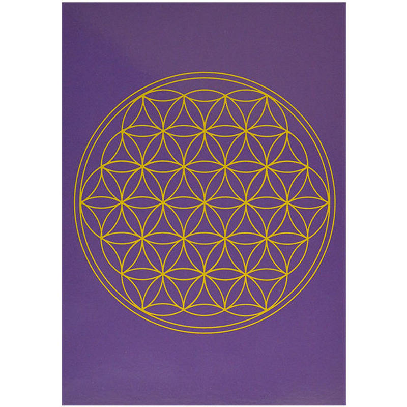 """flower of life""  postcard -purple- (spc002-7)"