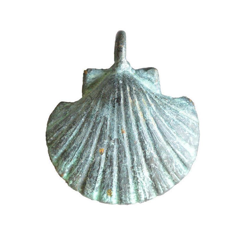 bronze shell pendant top (gan032)
