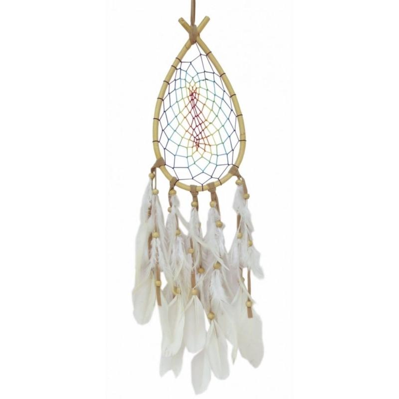 """Dreamcatcher"" Rainbow Drop rattan with rainbow color (sdc004)"