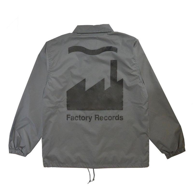 """""""E-yang"""" Factory Records / big print coach jacket / charcoal grey  -s.m.l.xl.size-  (ec.fac.c)"""