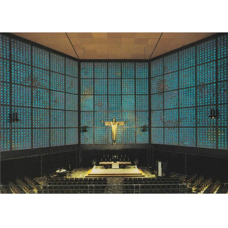 "kaiser wilhelm church ""altar"" postcard (gpc001a)"